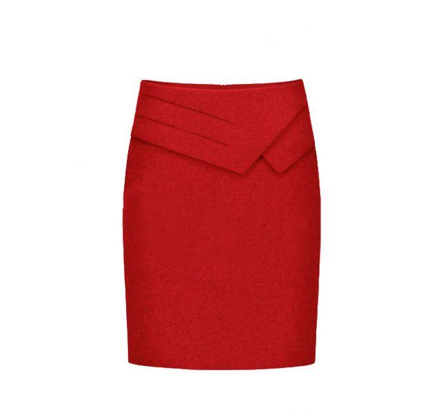 Осень зима юбки женщин мода работа свободного покроя шерстяной юбке профессиональная карьера длиной до колен юбка карандаш,ML Xl, Xxl