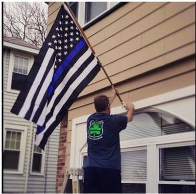 This Is a Great Fathers Day Gift, Order Now To Receive Gift In Time For Fathers Day !!BlueLine USA Police Flags Black, White And Blue American Flag With Grommets