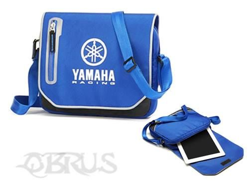 Yamaha Racing Tablet Bag Bag to keep your tablet safe and other important small items close-at-hand. Features the Yamaha Racing logo printed Zipped padded compartment to keep your tablet safe Zipped pocket in the flap for hands-on items Zipped pocket at the back for other valuables Suitable for most Tablets £18.56 inc vat. All available to order from QBRUS 01621 893227