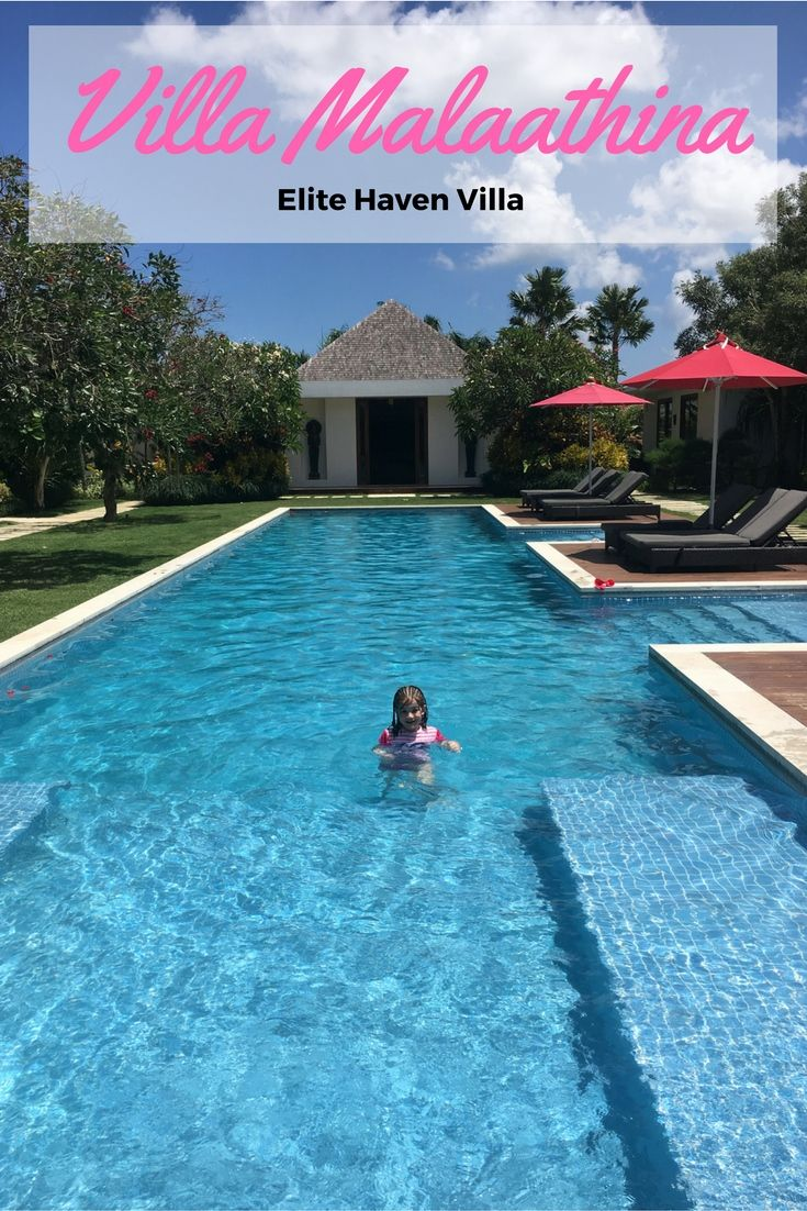 Our swim and lunch at Villa Malaathina in Umalas, Bali was amazing! This villa has to be seen to be believed