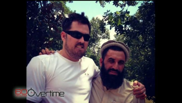 Former Navy SEAL Marcus Luttrell and Afghan villager Mohammad Gulab who saved him from the Taliban.