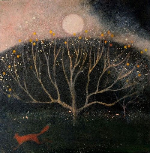 moving through the dark orchard ~ medium unknown ~ by catherine hyde