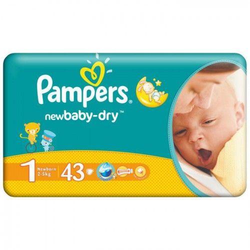 Pampers Newborn 2-5kg 43ks, https://babyplenky.cz/ Dětské pleny levně! Doprava zdarma při objednání za 1000 Kč!