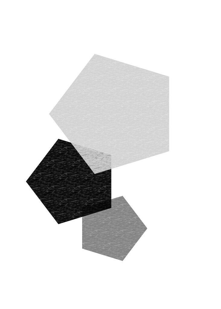 Print art black white b&w