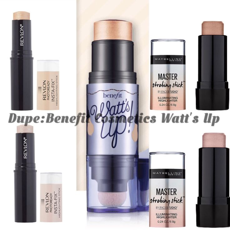 Dupe: Benefit Cosmetics Watt's Up Highlighter  – Hey, It's That Girl Anna! Drugstore cream highlighter sticks dupes for Watt's Up