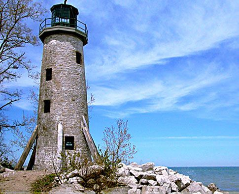 Pelee Island Lighthouse, Ontario, Canada, Lake Erie