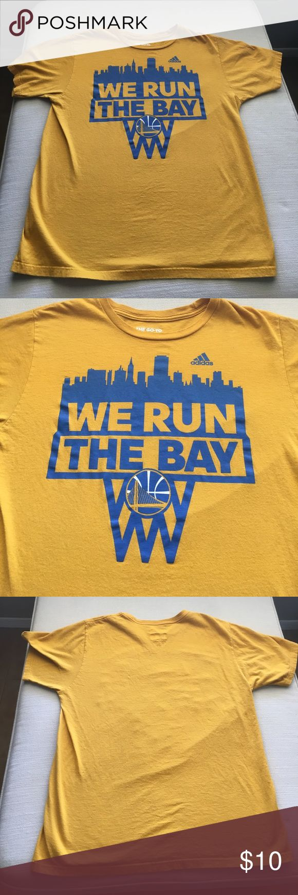 Men's Golden State Warriors t-shirt. Men's Golden State Warriors t-shirt in great condition. No rips or stains. Pet free/ smoke free home. NO TRADES. Adidas Shirts Tees - Short Sleeve