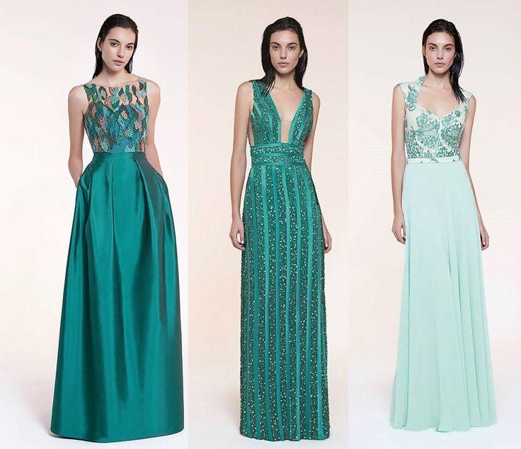 vestido madrinha ou formanda verde