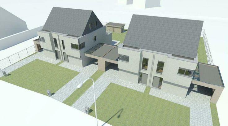 4 woningen Heusden Zolder Wij verzorgen op dit werk: - De Engineering, productie en montage van de prefab dakconstructie start werk ca. 12-2013