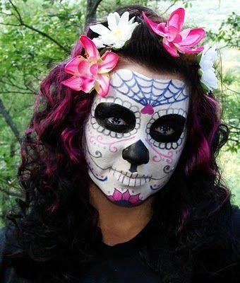 sugar skull  make up tutorial-awesome!