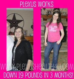 Plexus Slim 100% All Natural Weight Loss Product!  No Exercising, No dieting!  Just drink one pink packet and one accelerator pill(no harsh chemicals, no tremors, no shakes, no increased heart rate).  One drink a day and watch the fat melt away!  Go to www.plexusslim.com/lorimoore