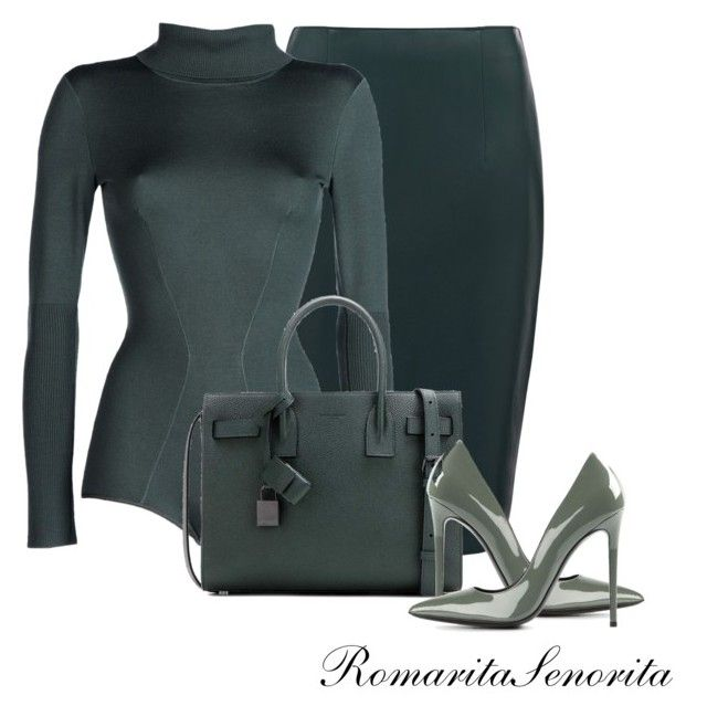 Chic by romaritasenorita on Polyvore featuring polyvore fashion style Alaïa Forever New Gianmarco Lorenzi Yves Saint Laurent clothing