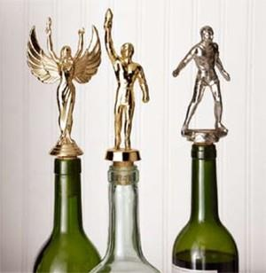 Make Wine Bottle Stoppers From Recycled Trophy Toppers