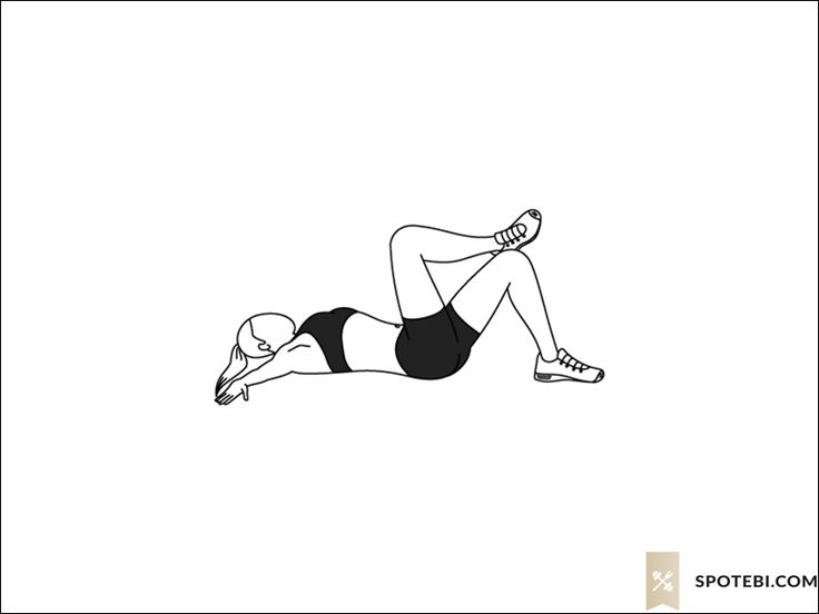 Cross crunches exercise guide with instructions, demonstration, calories burned and muscles worked. Learn proper form, discover all health benefits and choose a workout. http://www.spotebi.com/exercise-guide/cross-crunches/