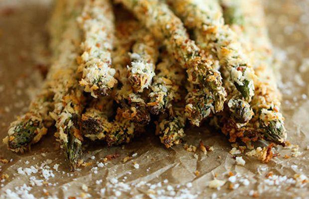 Groene asperge frietjes