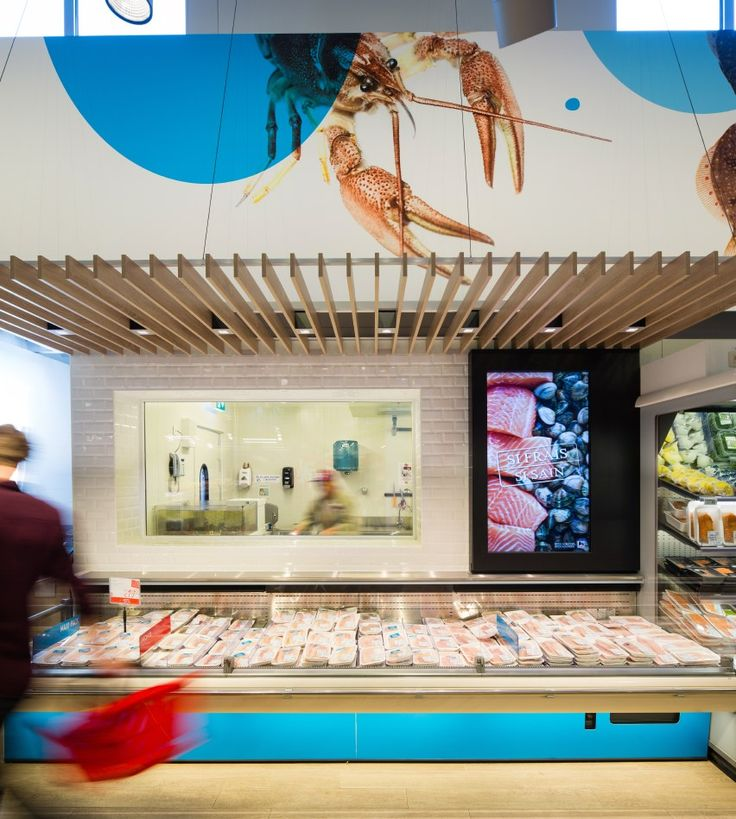Delhaize by minale design strategy retail design fresh for Fresh fish store