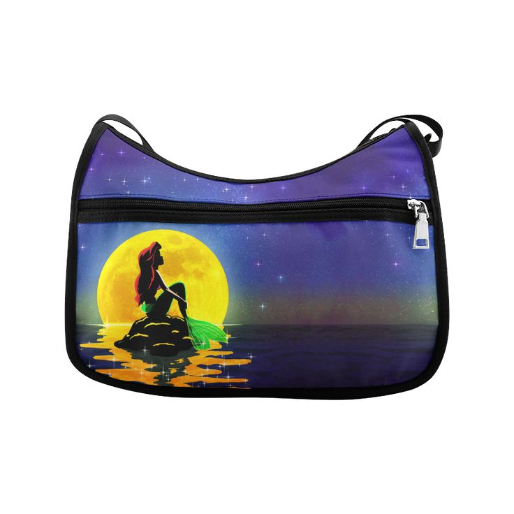The Mermaid and the Moon Crossbody Bags (Model 1616)