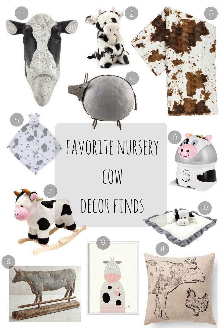 Favorite Nursery Cow Decor Finds, boy nursery inspiration, cow nursery theme, farm nursery decor