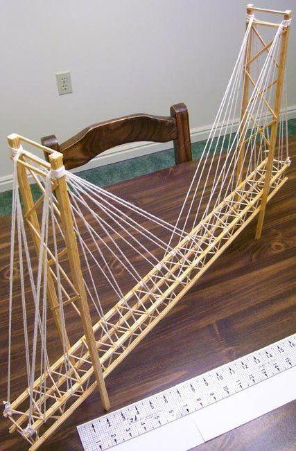 Toothpick Suspension Bridge   Garrett's Bridges