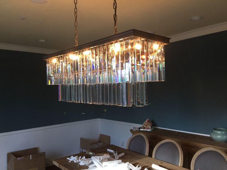 rectangle chandelier chandelier art chandeliers 1920 style lighting. Black Bedroom Furniture Sets. Home Design Ideas