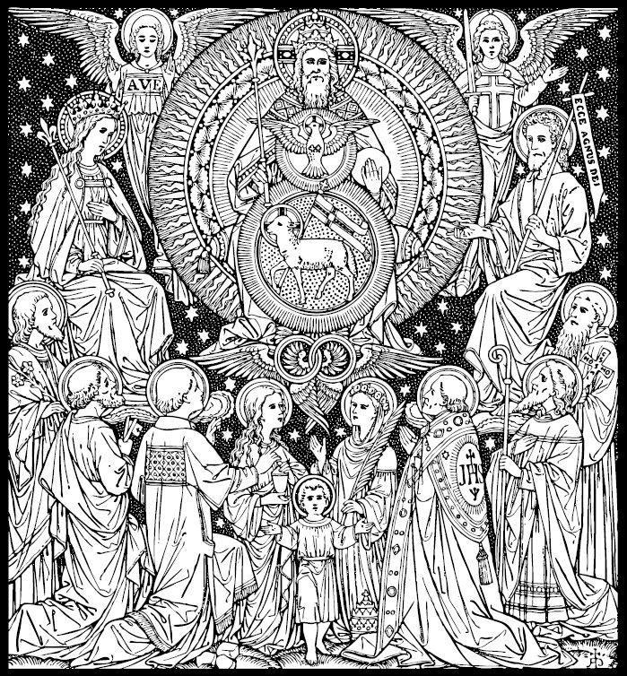 Daughter of the king catholic line art part 2 via corpus christi