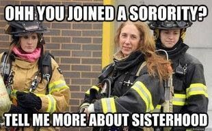 Haha female firefighter humor