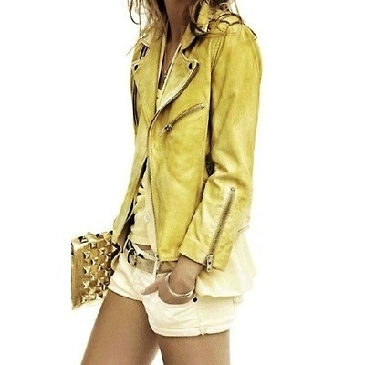 Soft Hued Leather Looks, can we say awesome!