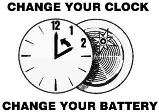 Daylight Saving Time Ends - Set clocks BACK one hour...