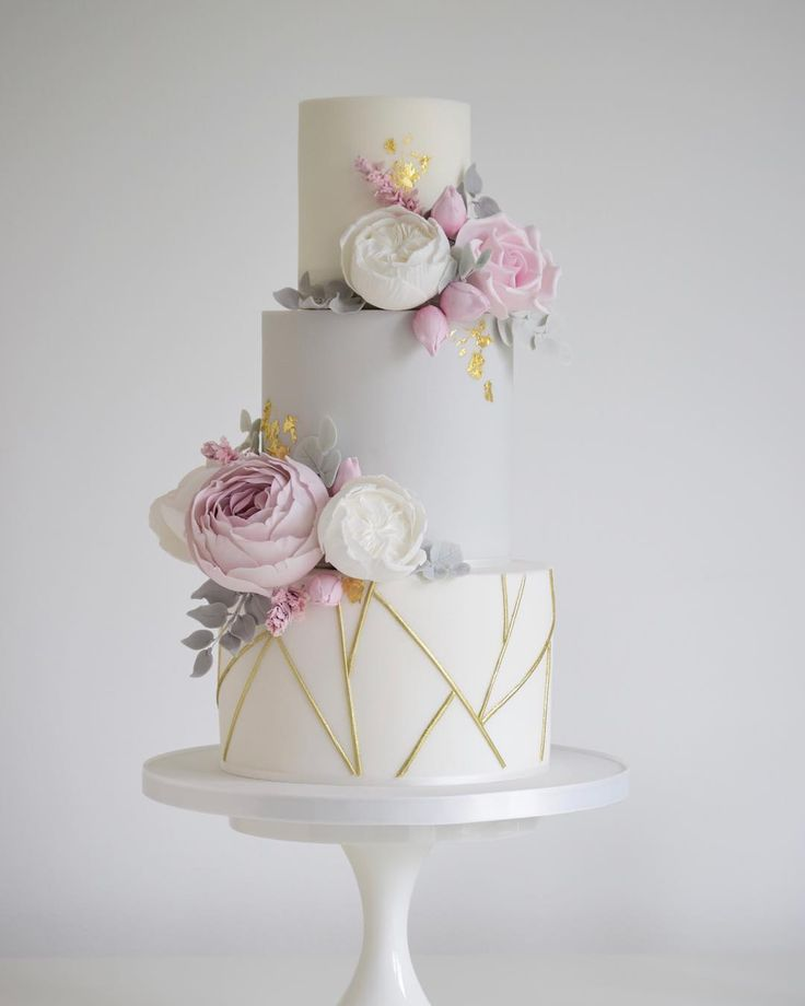 Pastel Wedding Cake, Peony Wedding Cake