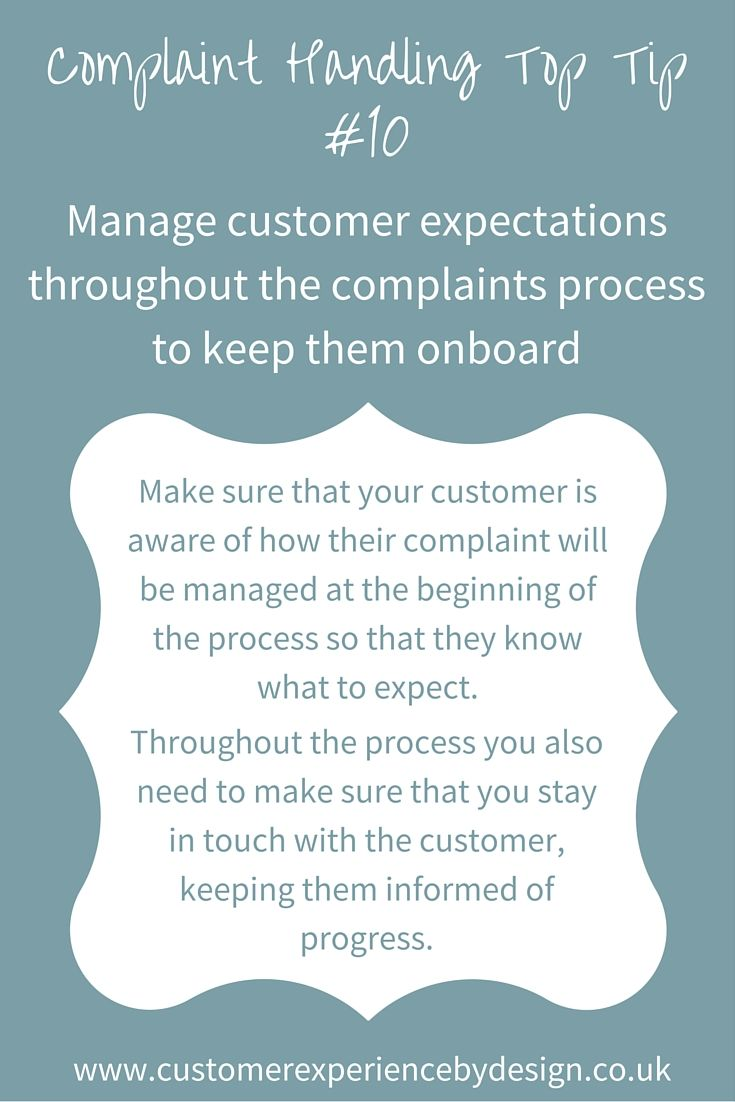 46 Best Complaint Handling Images On Pinterest  Customer -1138