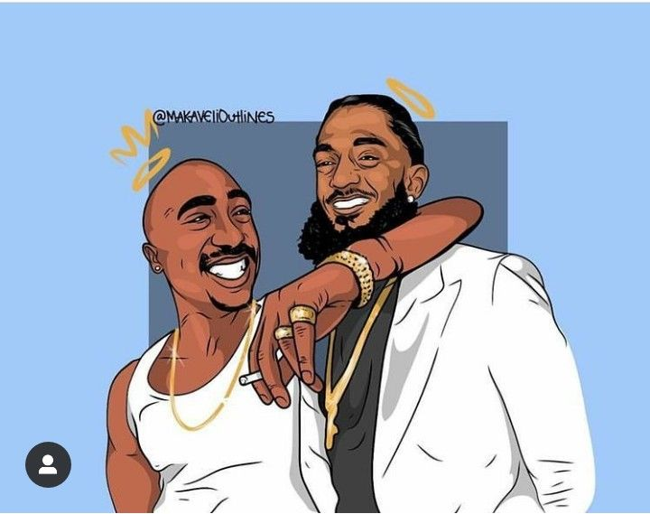 Tupac and Nipsey Hustle Black girl art, Tupac art, Black