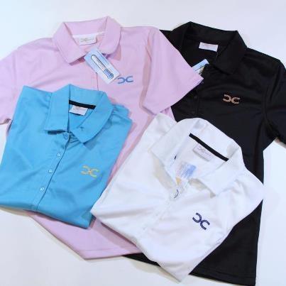 Polos, Long Sleeve T's, Short Sleeve T's with metallic appliqués