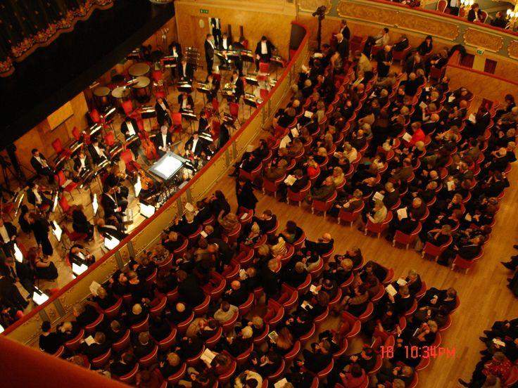 Parketten och orkestern. Teatro La Fenice, Venice. Photo:©Lillemor Brink