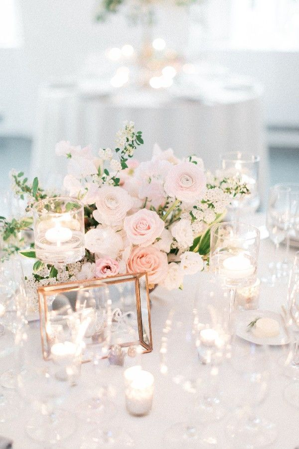46 Blush Flower In #Wedding Centerpieces For Your Big Day