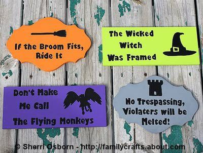 Learn How to Paint Fun Signs for Halloween