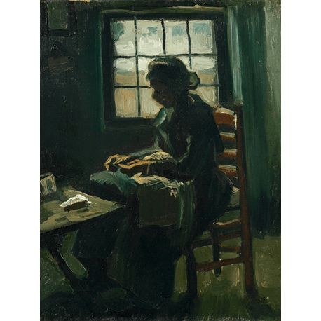 Reprodukcje obrazów Vincent van Gogh Woman Sewing - Fedkolor