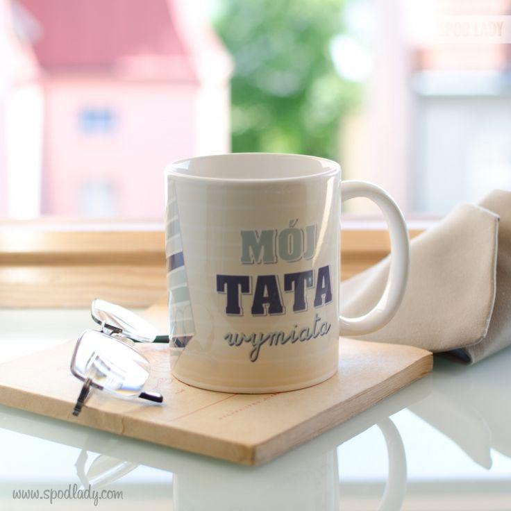 """Kubek """"Mój Tata wymiata"""" http://www.spodlady.com/prod_18734_Kubek_Tata_wymiata_krawat.html"""