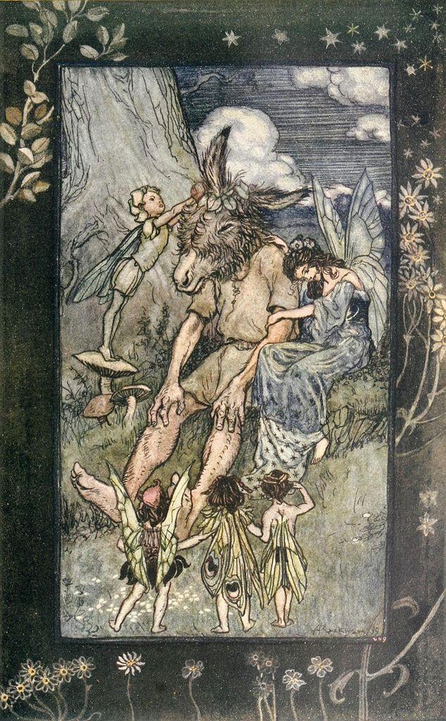 """Arthur Rackham - scene from """"Midsummer Night's Dream""""   Flickr - Photo Sharing!"""