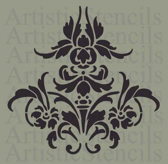 STENCIL Vintage Damask 10x9.7 by ArtisticStencils on Etsy