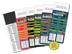 "3.5"" x 9"" M.B.C. Sport Schedules - Pro Football (Item 470133)"