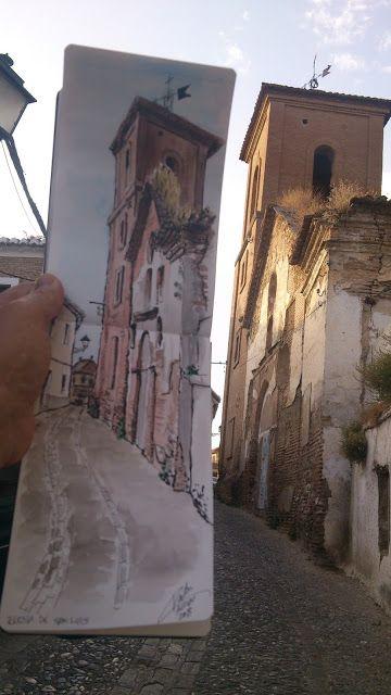 Urban Sketchers Spain. El mundo dibujo a dibujo.: Por los rincones del Albayzín - Publicado por Ramón Carlos Válor López en 19:53