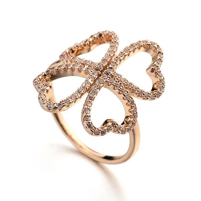 Леди четыре листа клевера кольцо с AAA циркон khazana бриллиантовое кольцо конструкции кольцо из белого золота-Ювелирные изделия из цинкового сплава-ID товара::60361385069-russian.alibaba.com