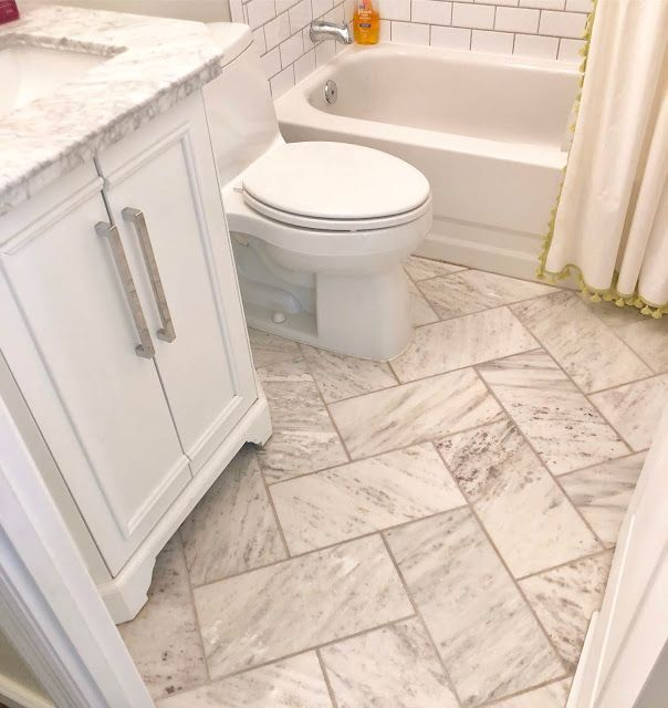 Marble Floor Tile In A Herringbone Pattern Love With Images
