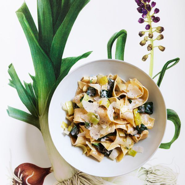 Pappardelle With Leeks And Spinach Recipe Pasta Dishes Leeks Pasta Asparagus mushroom leek spring pasta