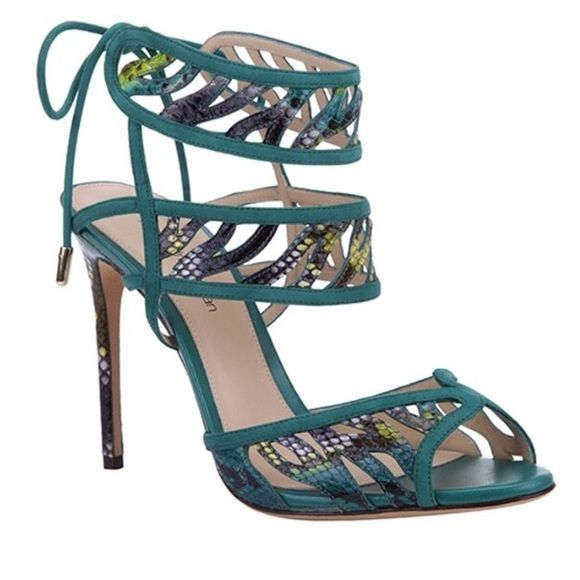 Alexandre Birman Python suede heel Alexandre Birman multi color suede tie heel - cute for any season - can be dressed up or casual - wore them for my birthday dinner - comes with original box and dust bag - 4 inch heel 😊 - no trades - offers considered 😉 Alexandre birman Shoes