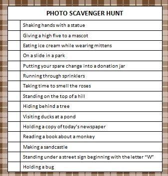 photo scavenger hunt