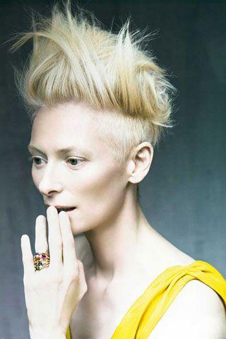 Tilda Swinton. Beautiful photo.: Paoloroversi, Paolo Roversi, Pomellato, Shorts Hair, Beautiful, Tildaswinton, Tilda Swinton, Style Icons, People