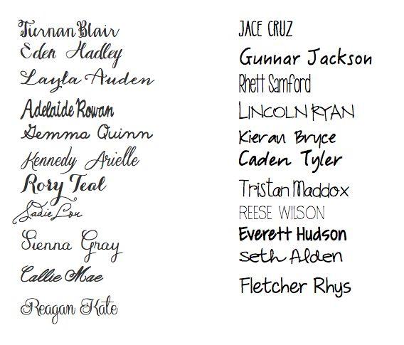 baby names I like