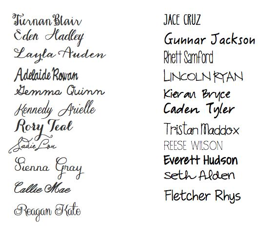 These are such pretty and unique names. I especially like Roxy Teal and Everett Hudson.