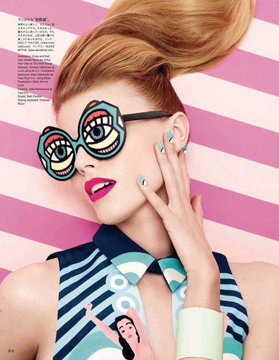 CRAIG & KARL FOR VOGUE JAPAN  pop-art duo lend their signature retro to Sixties-inspired photoshoot...